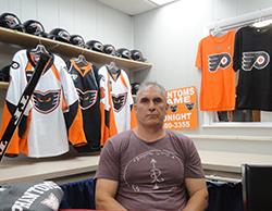 Flyers Head Coach Craig Berube. Credit: Matt Skoufalos.