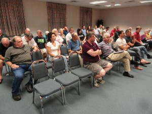Many Haddon Township residents in attendance expressed frustration that the project would lose its retail component under the proposed settlement. Credit: Matt Skoufalos.