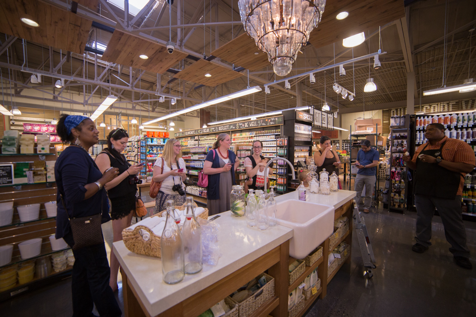 The in-store bath and beauty bar offers a one-of-a-kind, make-your-own inventory for shoppers who want to personalize a blend. Credit: Tricia Burrough/Lilac Blossom Photography.