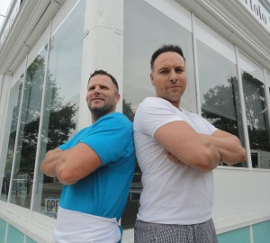 Manny Agigian (left) and Al DiBartolo, Jr., of DiBartolo Bakery in Collingswood will compete in the fourth season of TLC's 'Next Great Baker.' Credit: Matt Skoufalos.