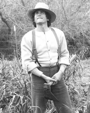 Michael Landon Pa Ingalls Little House on the Prairie 1974. Credit: NBC Television; photo from eBay.