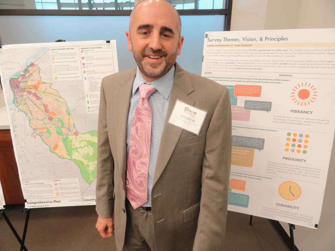 Camden County Planner Andrew Levecchia spoke with NJ Pen about the future development of Camden County. Credit: Matt Skoufalos.