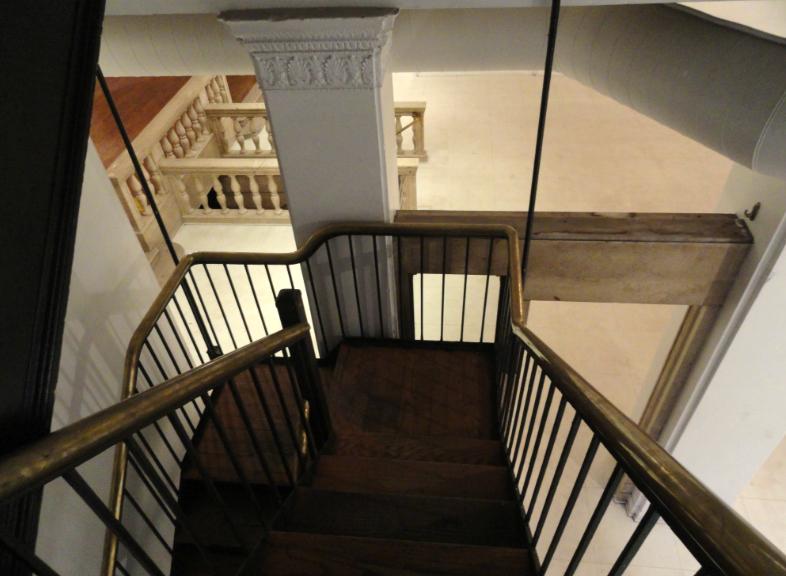 Stairwell. Credit: Matt Skoufalos.