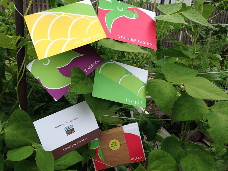 For $5, you can support the Collingswood Community Garden (and take home some stylish notecards). Credit: Collingswood Community Garden.