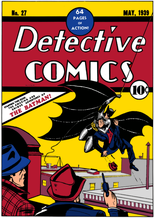Batman was created in 1939 by Bob Kane and Bill Finger. He first appeared in Detective Comics #27. Credit: DC Entertainment.