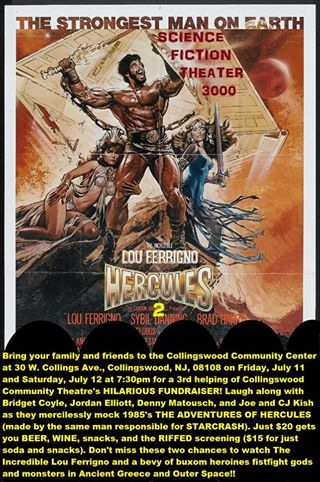 'The Adventures of Hercules' is ripe for parody, and Collingswood performers will take it down this weekend at the Community Center. Credit: Collingswood Community Theatre.