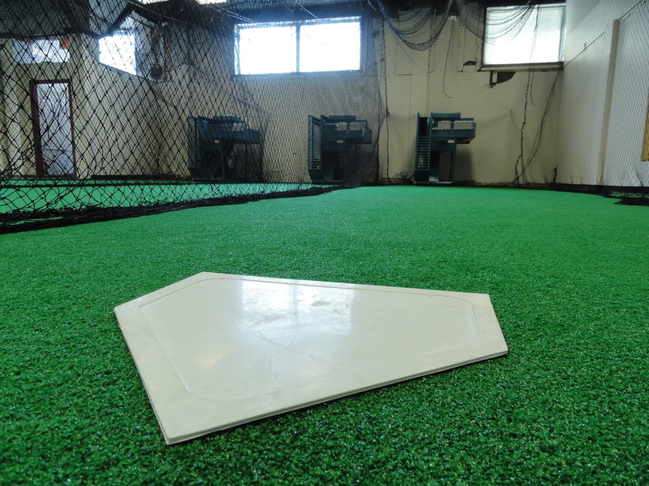 View from home plate in the fifth lane of the Sports 4 All batting cages. Credit: Matt Skoufalos.