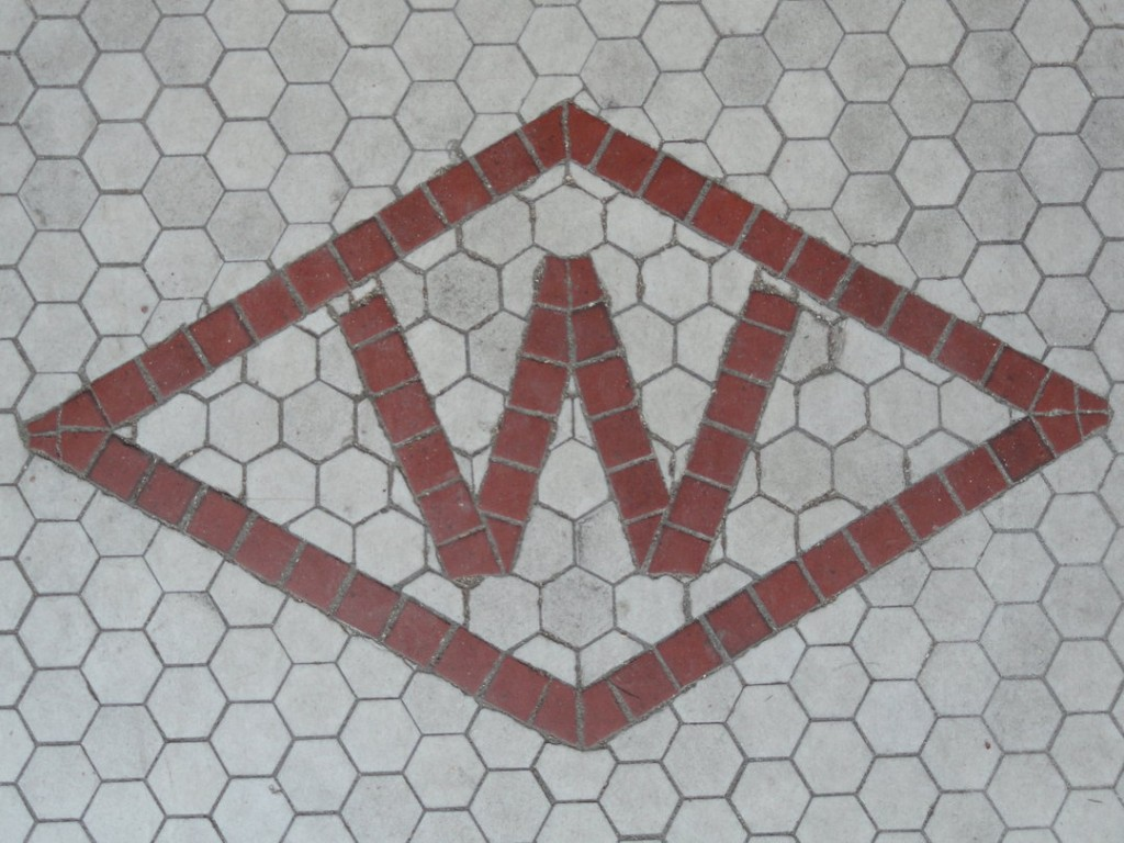 Thomas said the idea for the market's name came when their architect saw the old Woolworth's logo on the tile. Credit: Matt Skoufalos.