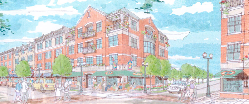 Original plans for the Haddon Town Center. Credit: Delware Valley Smart Growth Alliance.