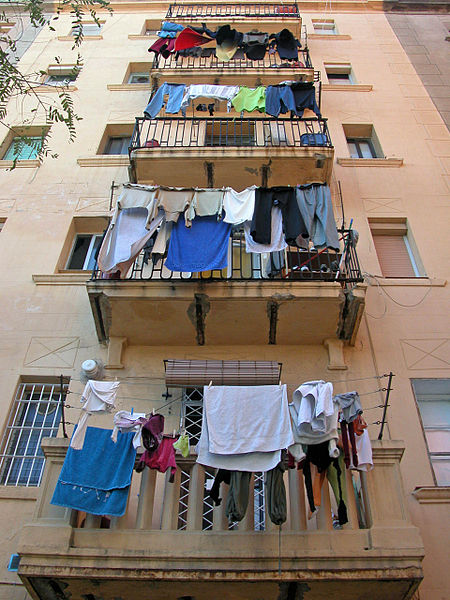 Neighborhood of Barceloneta, Barcelona, by Cristina Del Biaggio.