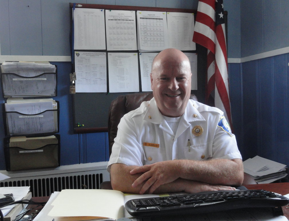 Collingswood Police Chief RIchard Sarlo said he hopes he will be remembered as fair as he takes his place among the retired officers of the department. Credit: Matt Skoufalos.