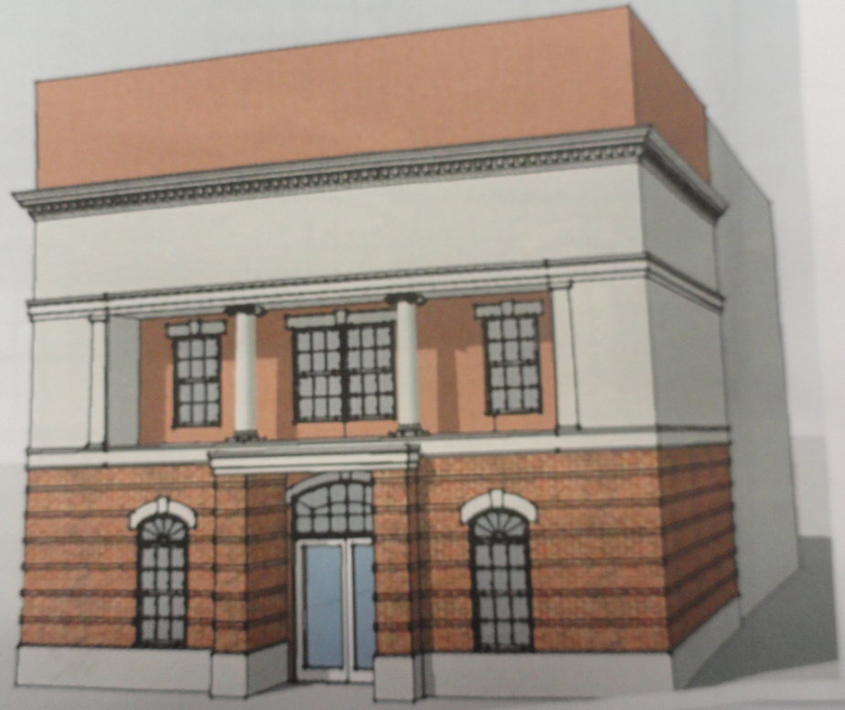 Rendering of the exterior of the DePace Sports LIbrary and Museum of Champions in Collingswood. Credit: Borough of Collingswood.