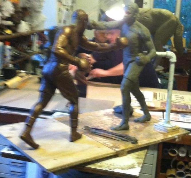 Maquette of the Ali-Frazier installation planned for the DePace museum. Credit: Eric Katz.