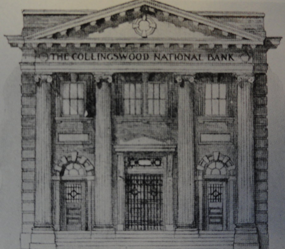 """Historic rendering of the """"Collingswood National Bank,"""" which is being renovated by Haddonfield cardiologist Dr. Nicholas DePace. Credit: Borough of Collingswood."""
