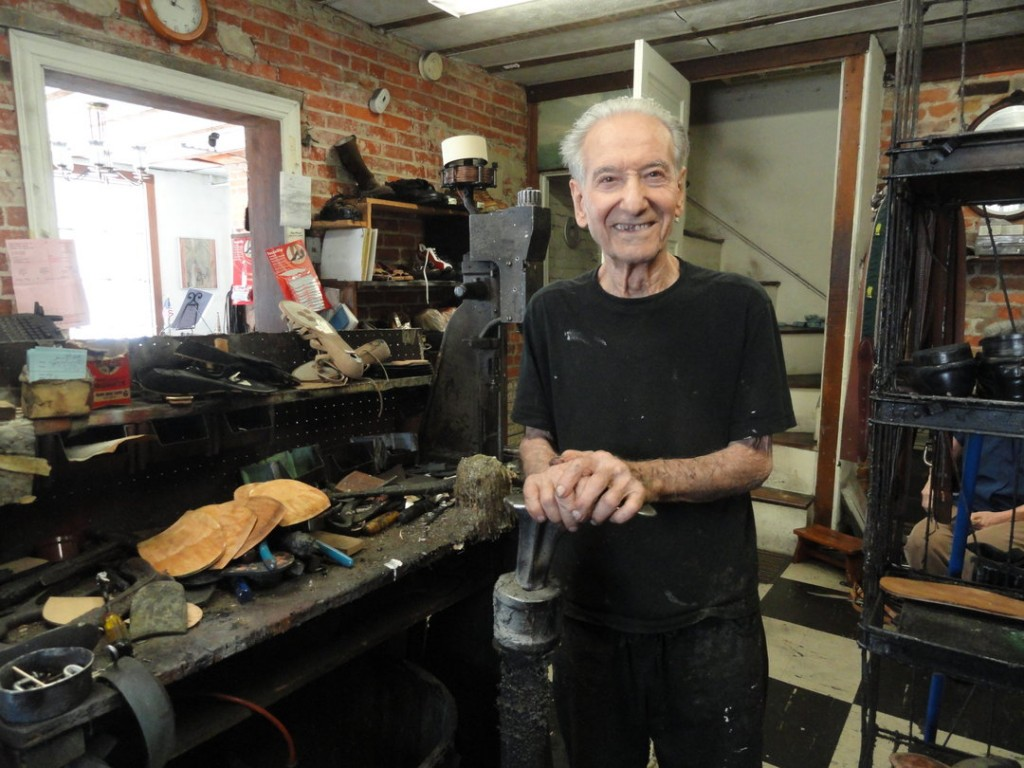 On Sept. 1, James Spinelli will shut the doors on Quaker Shoe Repair, the business he's operated for 74 years. Credit: Matt Skoufalos.