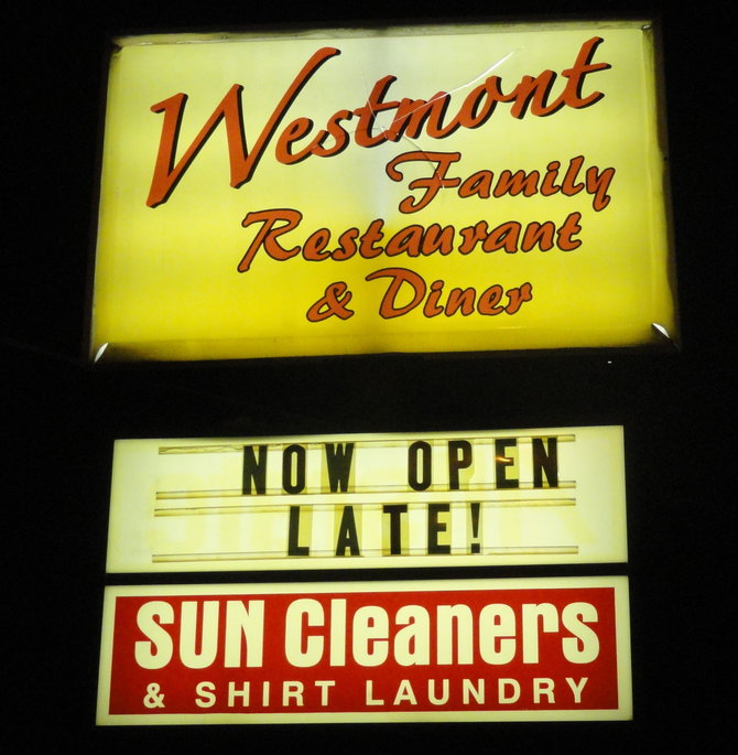 The Westmont Diner will take on 24-hour service Fridays and Saturdays starting August 1. Credit: Matt Skoufalos.