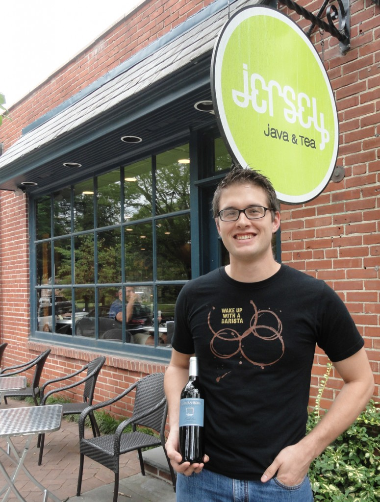 Jersey Java opened its doors to wine-drinkers last summer. Credit: Matt Skoufalos.