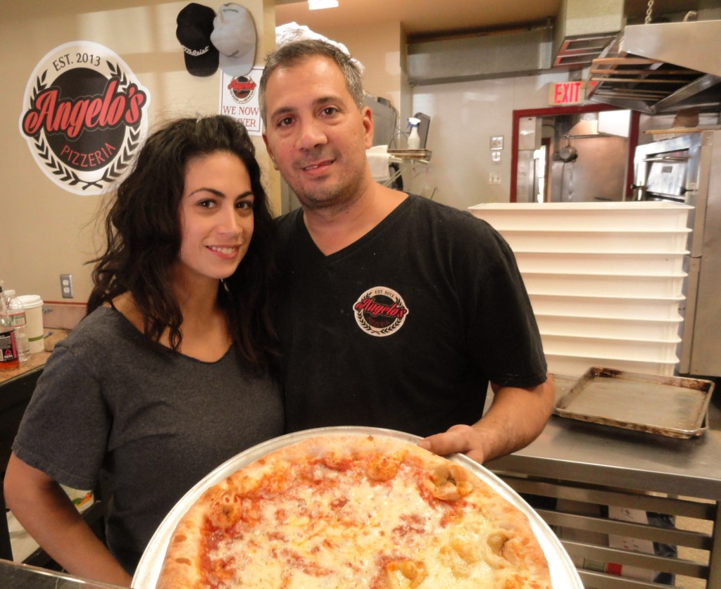 Lauren and Danny DiGiampietro bring two families' worth of tradition to the recipes at Angelo's Pizzeria in Haddonfield. Credit: Matt Skoufalos.