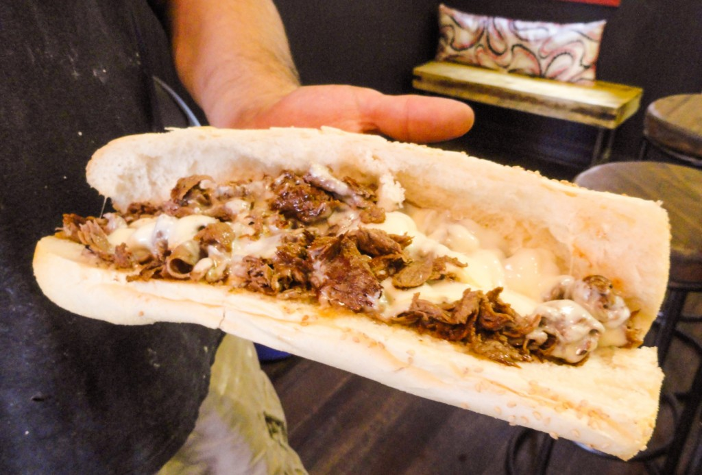 The cheesesteak at Angelo's is made with three ingredients, Danny DiGiampietro said, but their freshness is the key. Credit: Matt Skoufalos.