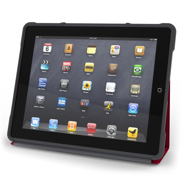 Product photo of the STM Dux rugged iPad case. Credit: STM.