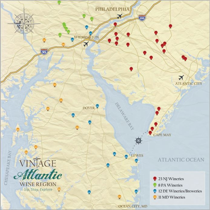 Vintage Atlantic Wine Region. Credit: Visit South Jersey.