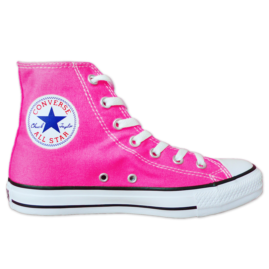 hot pink and black converse