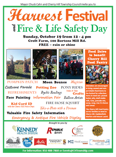 Cherry Hill's Fire and Life Safety Day will be held Oct. 19. Credit: Cherry Hill Twp.