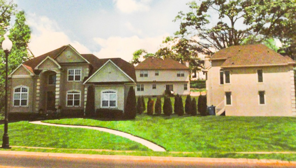 Artist's rendering of the impact of a proposed subdivision of 605 Warwick Road. Credit: Concerned Residents of Haddonfield.
