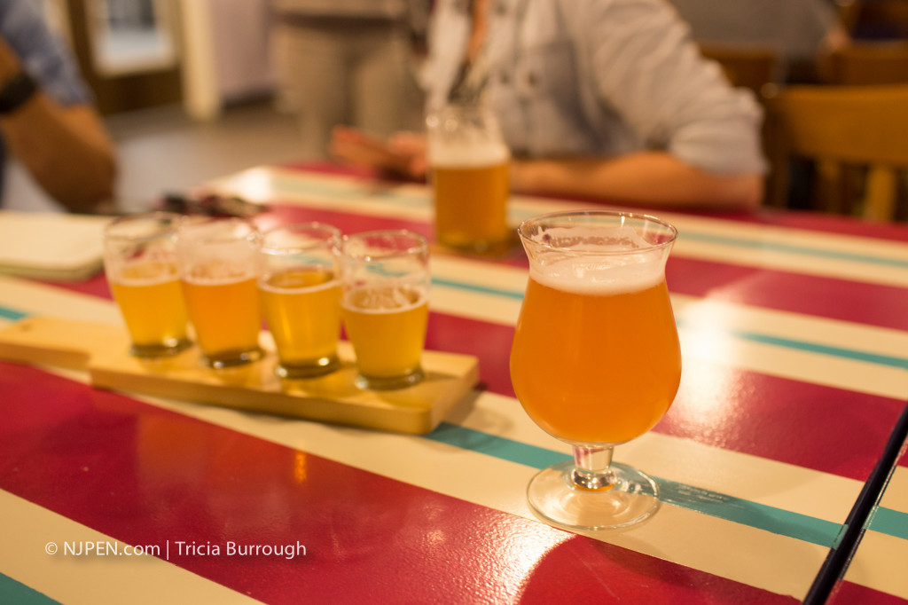 A flight of beers at Forgotten Boardwalk. Credit: Tricia Burrough.