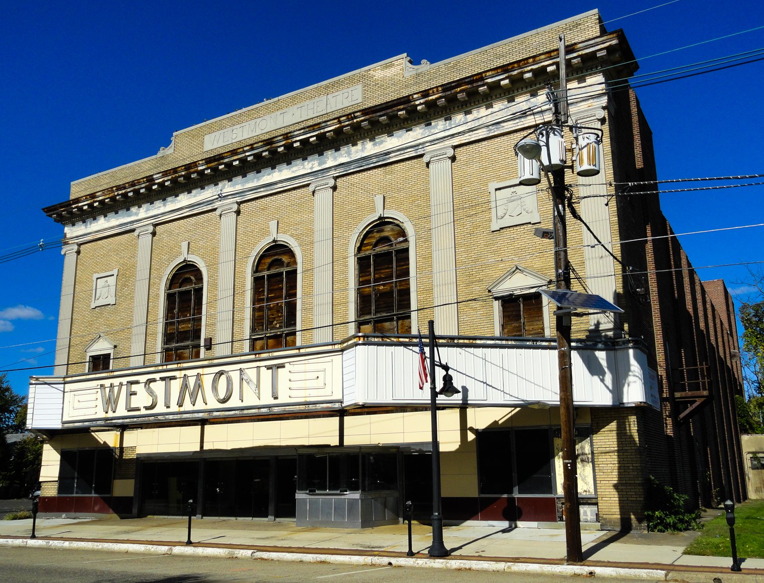 Developers for the historic Westmont Theatre say plans for the structure are still in progress. Credit: Matt Skoufalos.