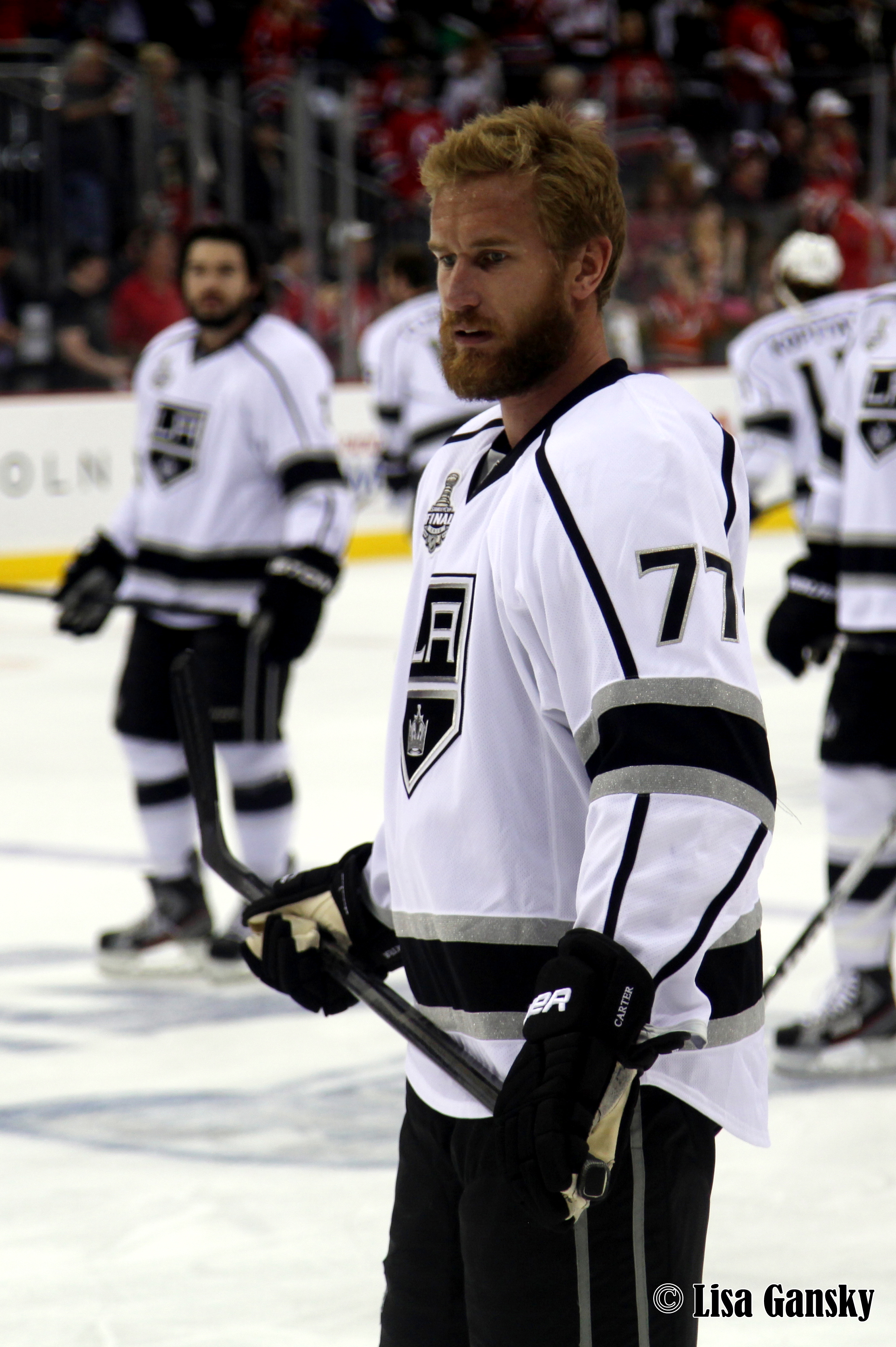 Former Flyers Jeff Carter was back in the building Tuesday night against his old squad. Credit: Lisa Gansky - Flickr: IMG_4666.