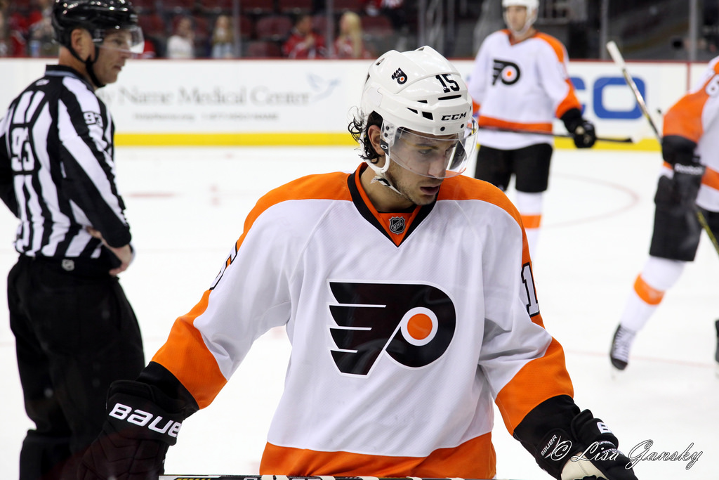 Michael Del Zotto has been a huge boon to the depleted Flyers defense. Credit: Lisa Gansky. https://goo.gl/1LvSVX