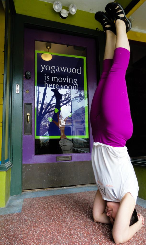 Yogawood owner Beth Filla at her new location. Credit: Matt Skoufalos.