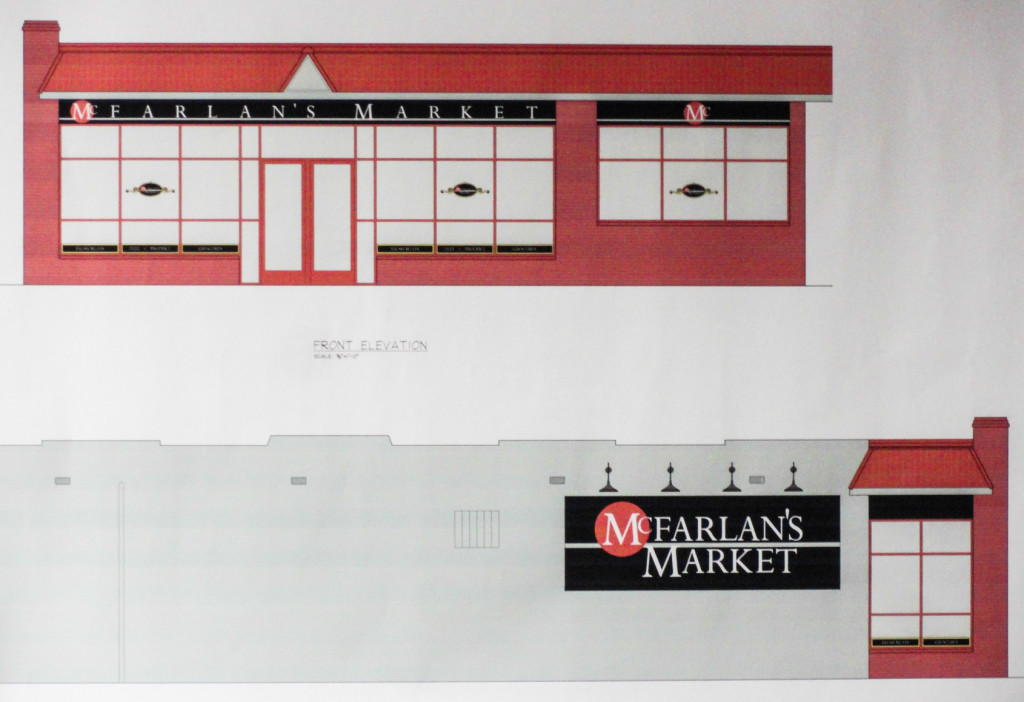 Preliminary drawings for McFarlan's Market. Credit: Matt Skoufalos.