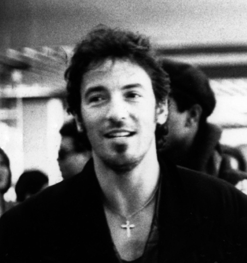 """Bruce Springsteen 1988"" by Julien_civange_and_bruce_springsteen.jpg: Laura blandderivative work: Beao - Julien_civange_and_bruce_springsteen.jpg. https://goo.gl/YKuSqU."