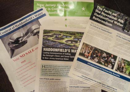 Water sale flyers circulated in Haddonfield. Credit: Matt Skoufalos.