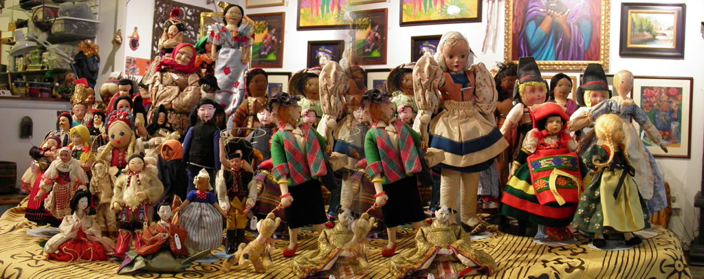 A collection of vintage dolls from Galerie Marie.