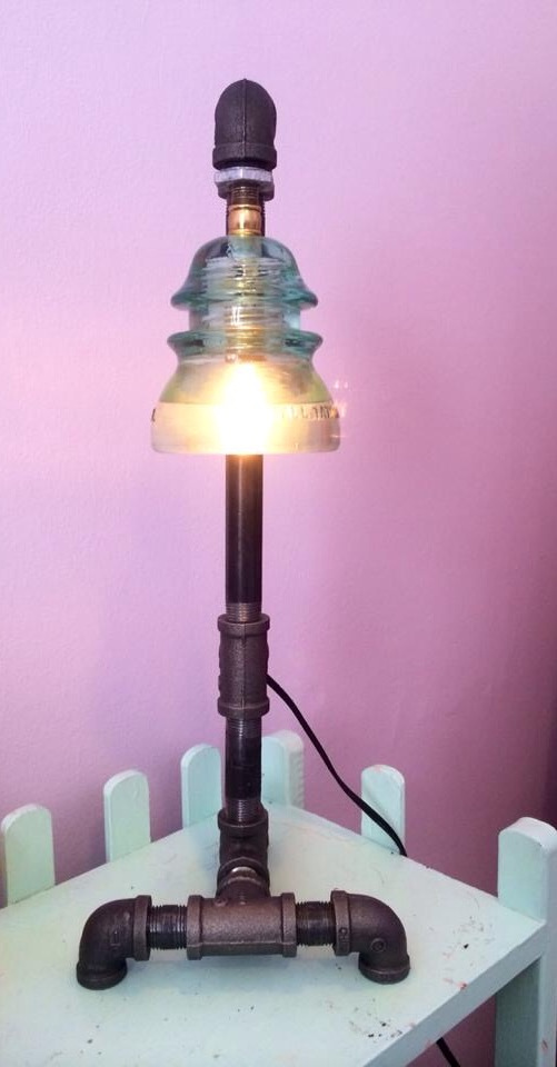One-of-a-kind lamps from  Imagine Studios.