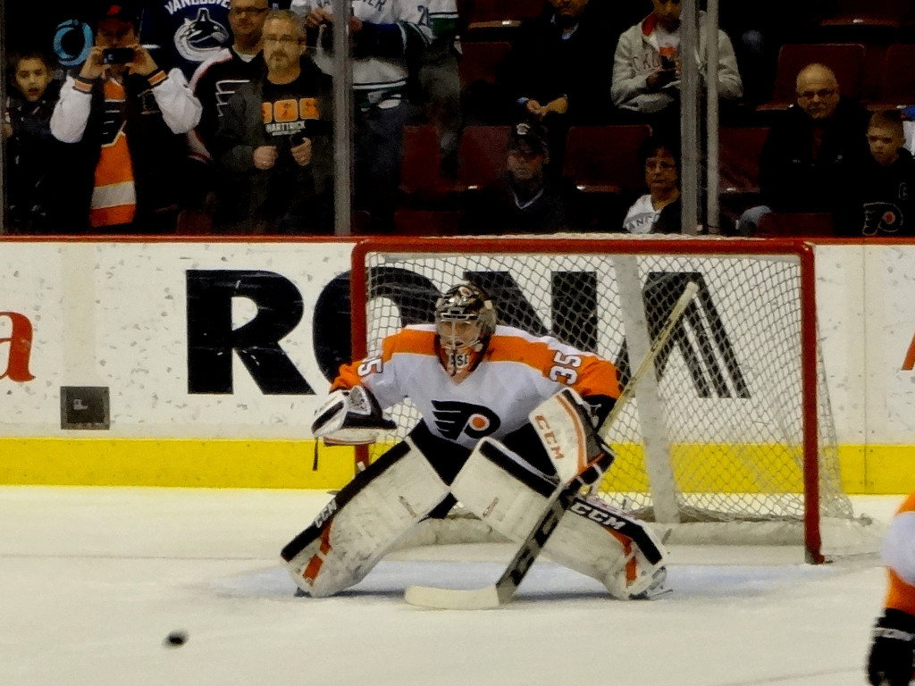 Steve Mason has been the main difference for the Flyers lately. Credit: Matt Boulton - https://goo.gl/6Ycy6V.