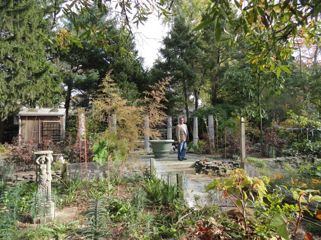 Michael Bruce's Haddon Township garden. Credit: Matt Skoufalos.