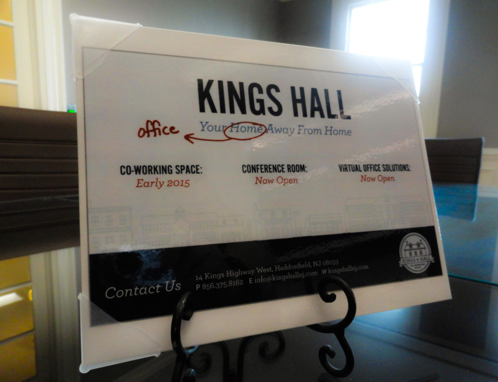 """Kings Hall brands itself """"Your home office away from home."""" Credit: Matt Skoufalos."""