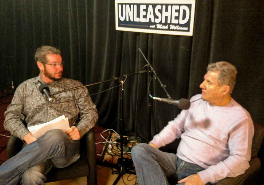 Mitch Williams and Larry Bowa on Williams' podcast. Credit: Wildfire Group.