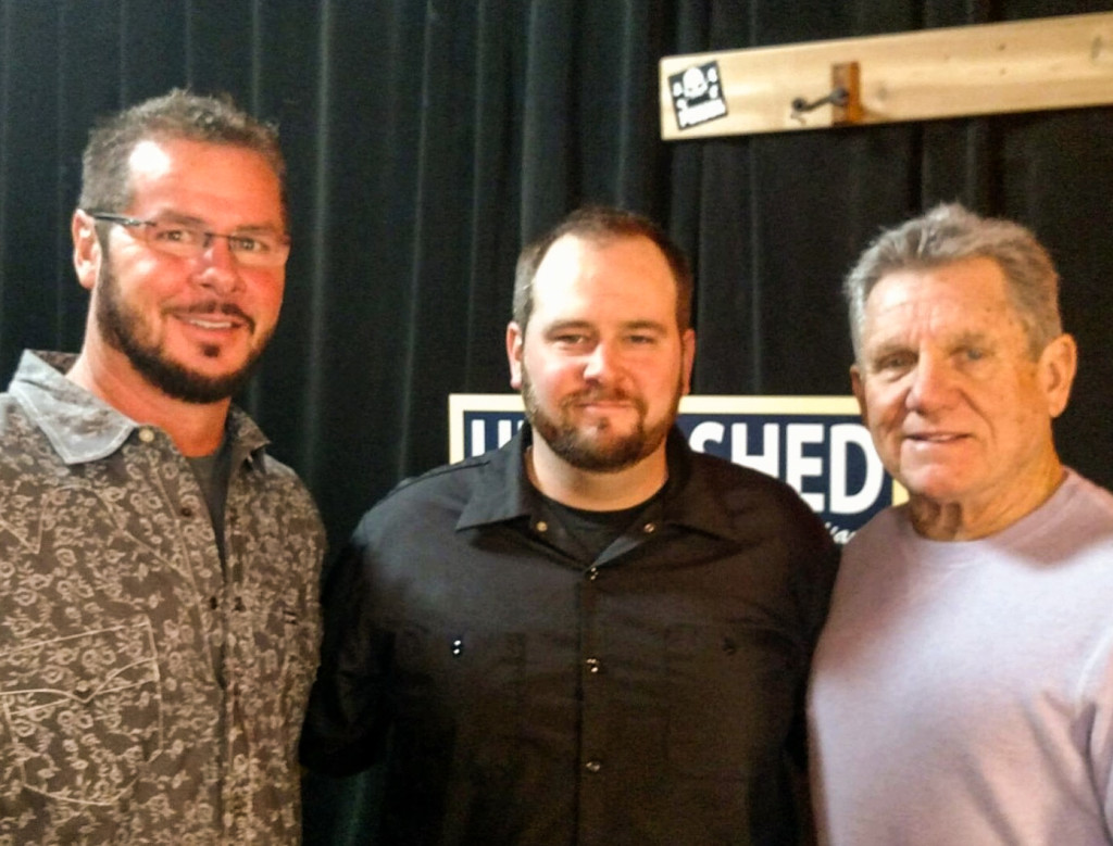 Williams with Unleasahed producer Marcus Darpino and Larry Bowa. Credit: Wildfire Group.