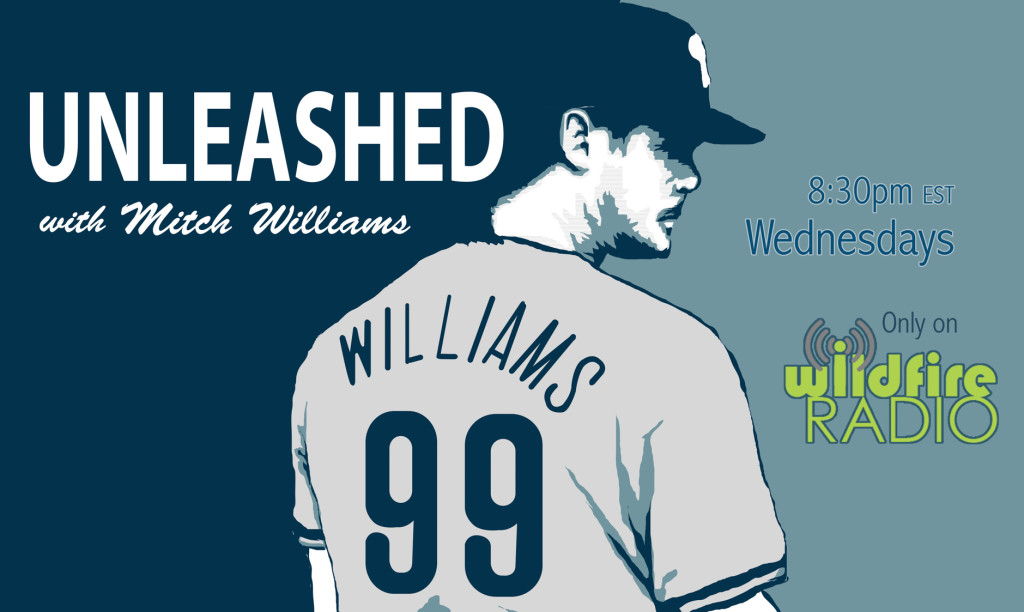 Mitch Williams' podcast, Unleashed. Credit: Wildfire Group.