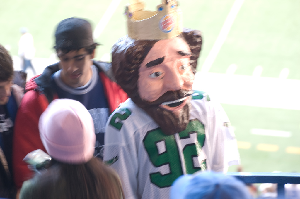 Eagles fans never miss the chance to make a Howard Eskin joke. Credit: Billy Bob Bain. https://goo.gl/qm50UE