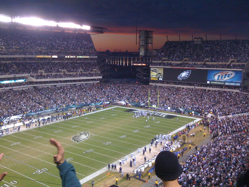 Eagles-Cowboys at the Linc. Credit: John Riviello: https://goo.gl/MjLmQY.