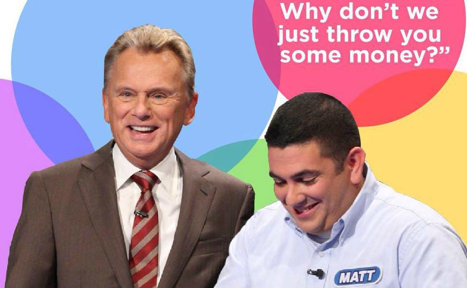 Matt DeSanto and Pat Sajak. Credit: Wheel of Fortune.