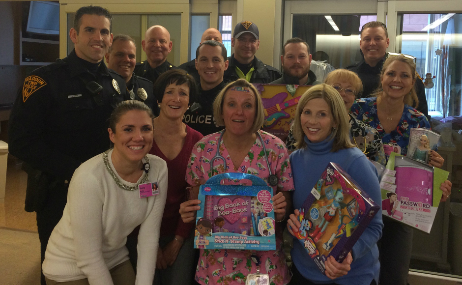 Haddon PBA #257 delivers gifts to Virtua Voorhees. Credit: Craig Stauts.