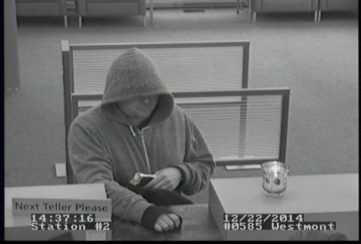 The suspect wanted in the Santander Bank Robbery. Credit: Haddon Twp. Police.