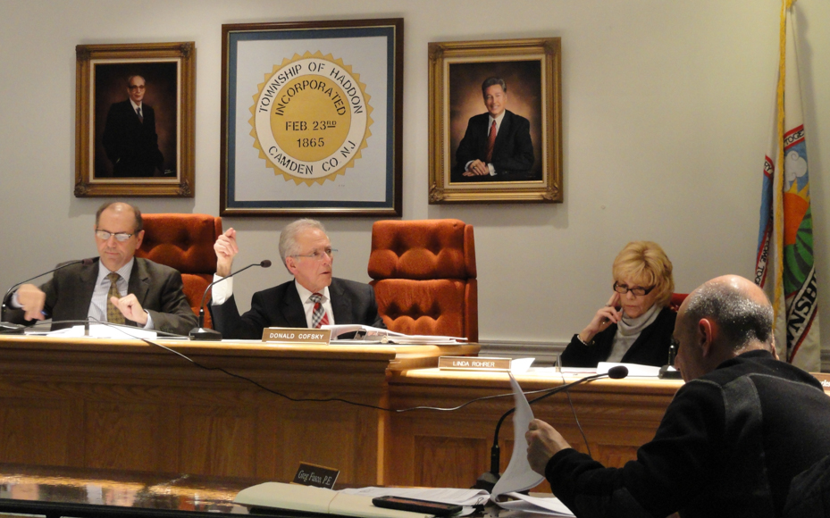 Haddon Twp. Planning Board in Dec. 2014. Credit: Matt Skoufalos.